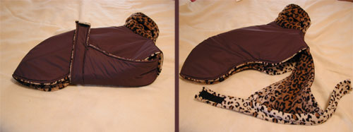 brown dog coats